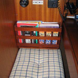 kasette til logbog osv ved navigationsplads