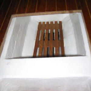 udnyttet kølrum, plads til kurv